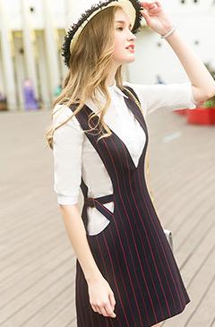 斯妲黛莎红白条纹半裙